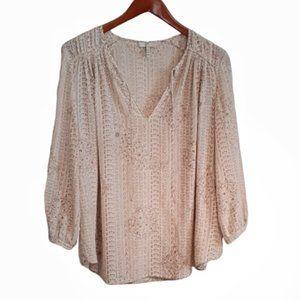 Joie Silk 3/4 Sleeve Blouse S